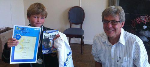 Ben and EuroTalk chairman Dick Howeson