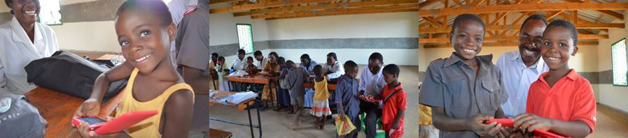 Students using EuroTalk software in Malawi