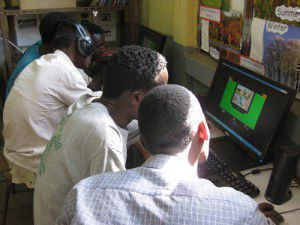 Students studying with EuroTalk in Ethiopia