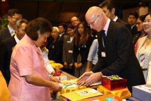 Steve meets Her Royal Highness Princess Maha Chakri Sirindhorn of Thailand