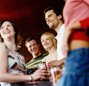 Meeting people in the pub is great language practice