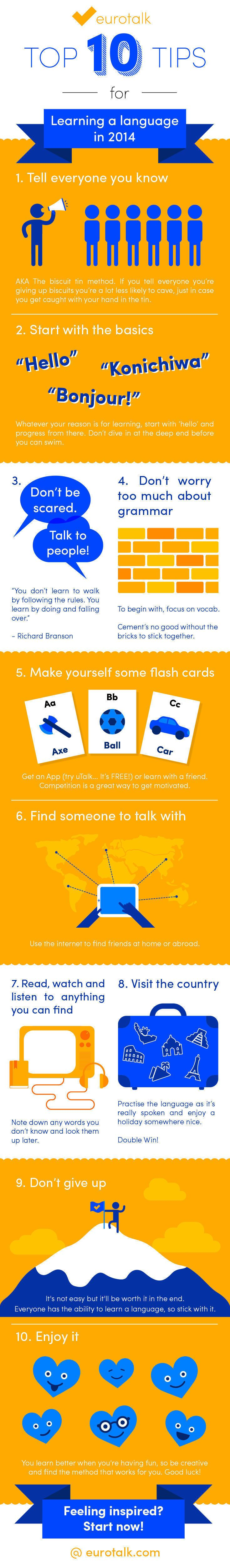 EuroTalk's Top 10 Tips for Learning a Language in 2014