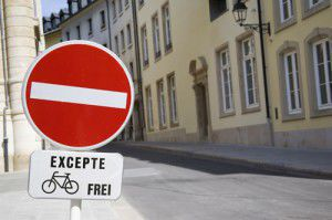 Luxembourg bicycle zone