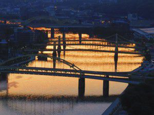 Pittsburgh River at Sunrise