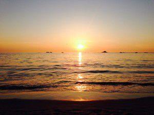 Sunset at Cobo Bay, Guernsey