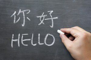 Hello in Chinese Mandarin