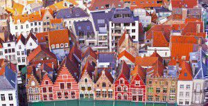 The architecture of Bruges