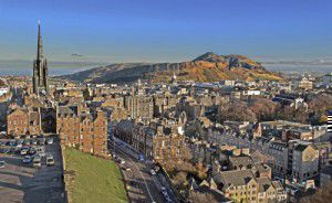 Edinburgh below Arthur's Seat