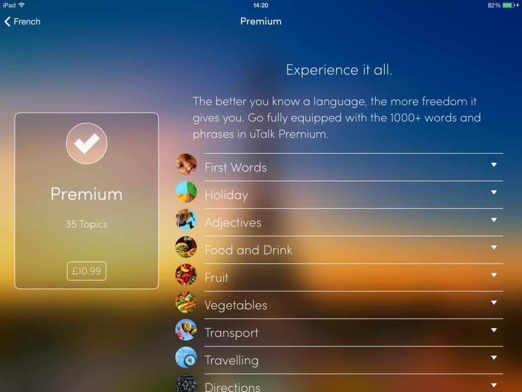 uTalk Premium package