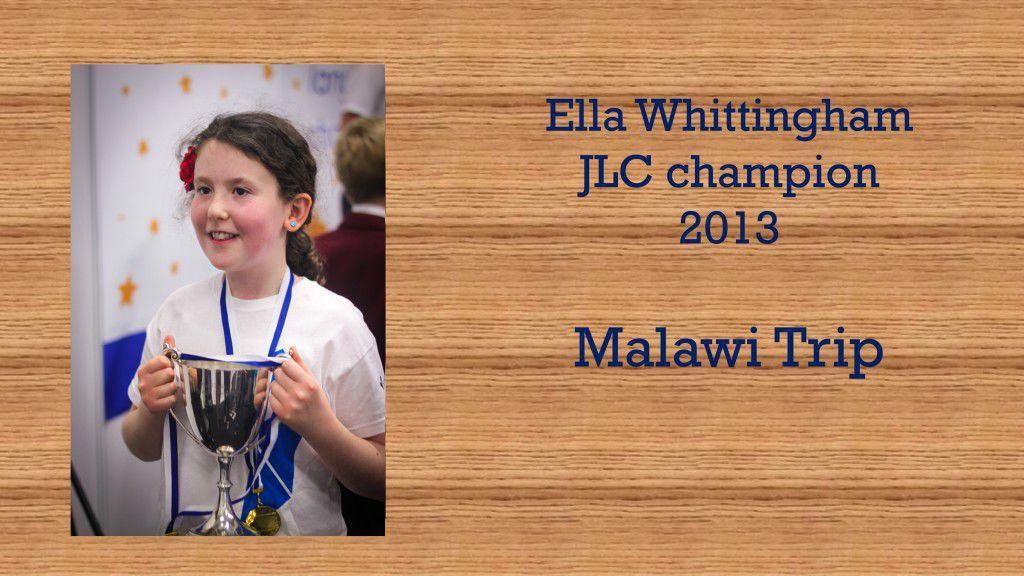 Ella Whittingham Malawi presentation