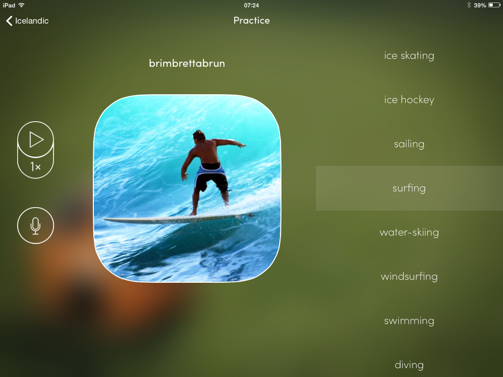 Brimbrettabrun (surfing in Icelandic)
