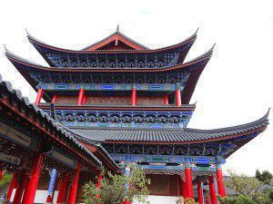 Royal Palace, Lijiang. Ancient traditional buildings can still be easily seen in many cities in China.