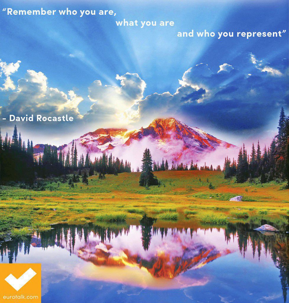 """""""Remember who you are, what you are and who you represent."""" David Rocastle"""