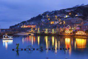 Mousehole Christmas Lights, Cornwall