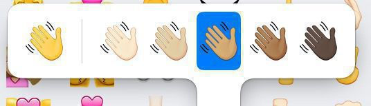 emoji with different skin tones