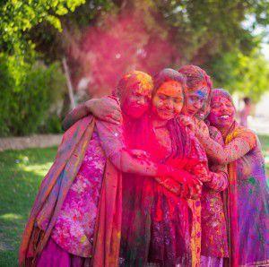 Gulal at Holi festival, India