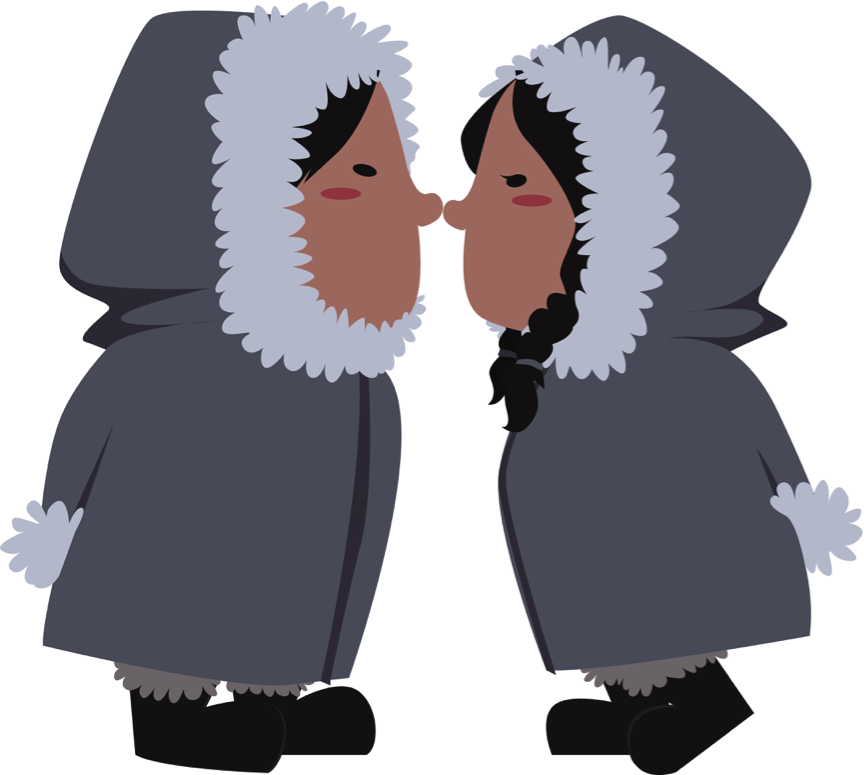 картинка как здороваются эскимосы память молодожены