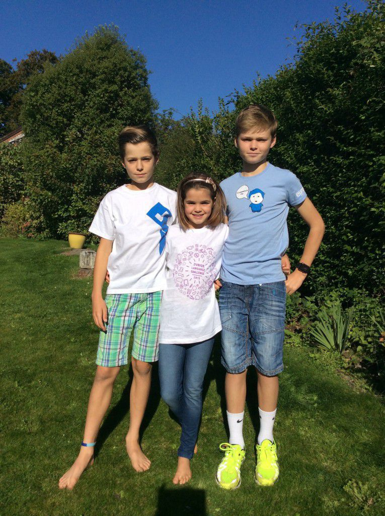 The Fawcett children - Ben, Josh and Saskia