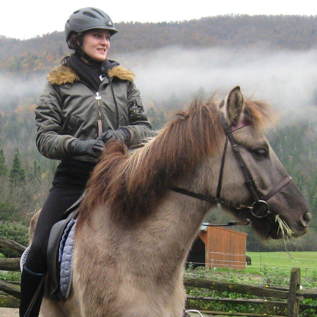 Patricia and Léttfeti, the Icelandic horse