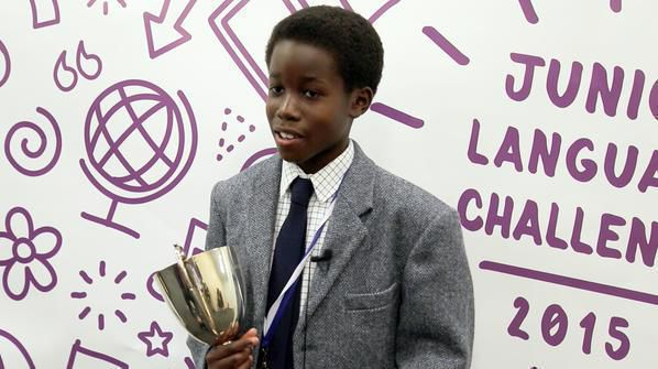Tudor Mendel-Idowu, Junior Language Challenge champion